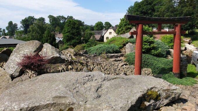 Japonská kamenná zahrada, Sněžné,