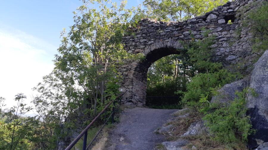 vstup do hradu Andělská Hora