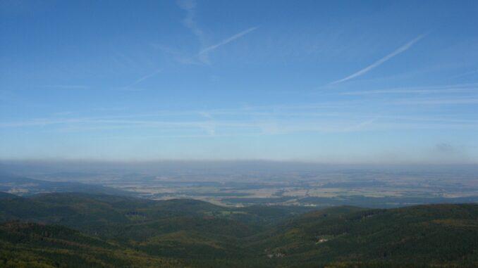 Borůvková hora výhled