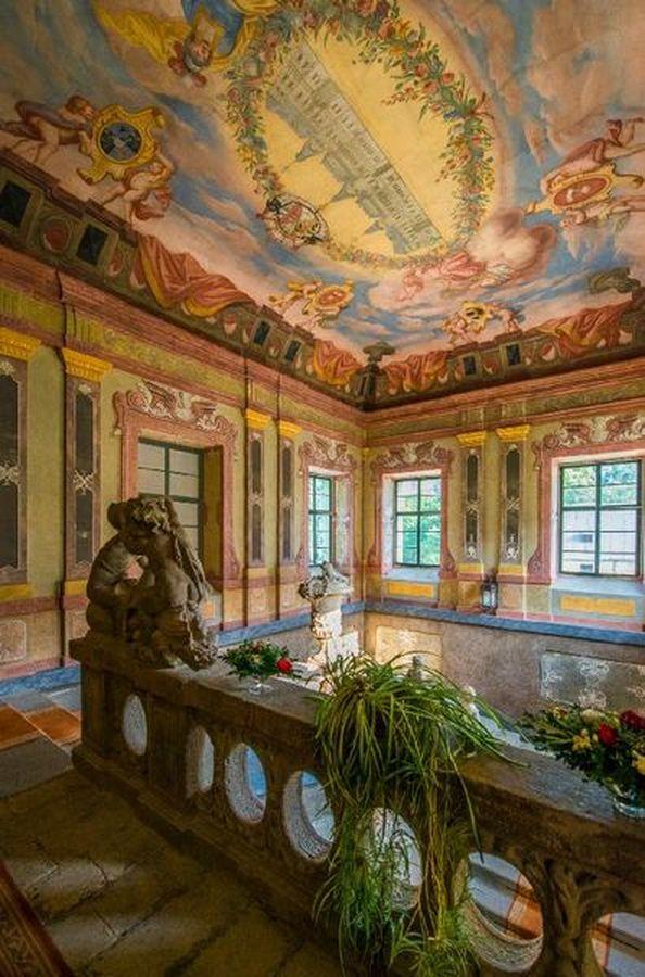 interiéry - zámek Manětín