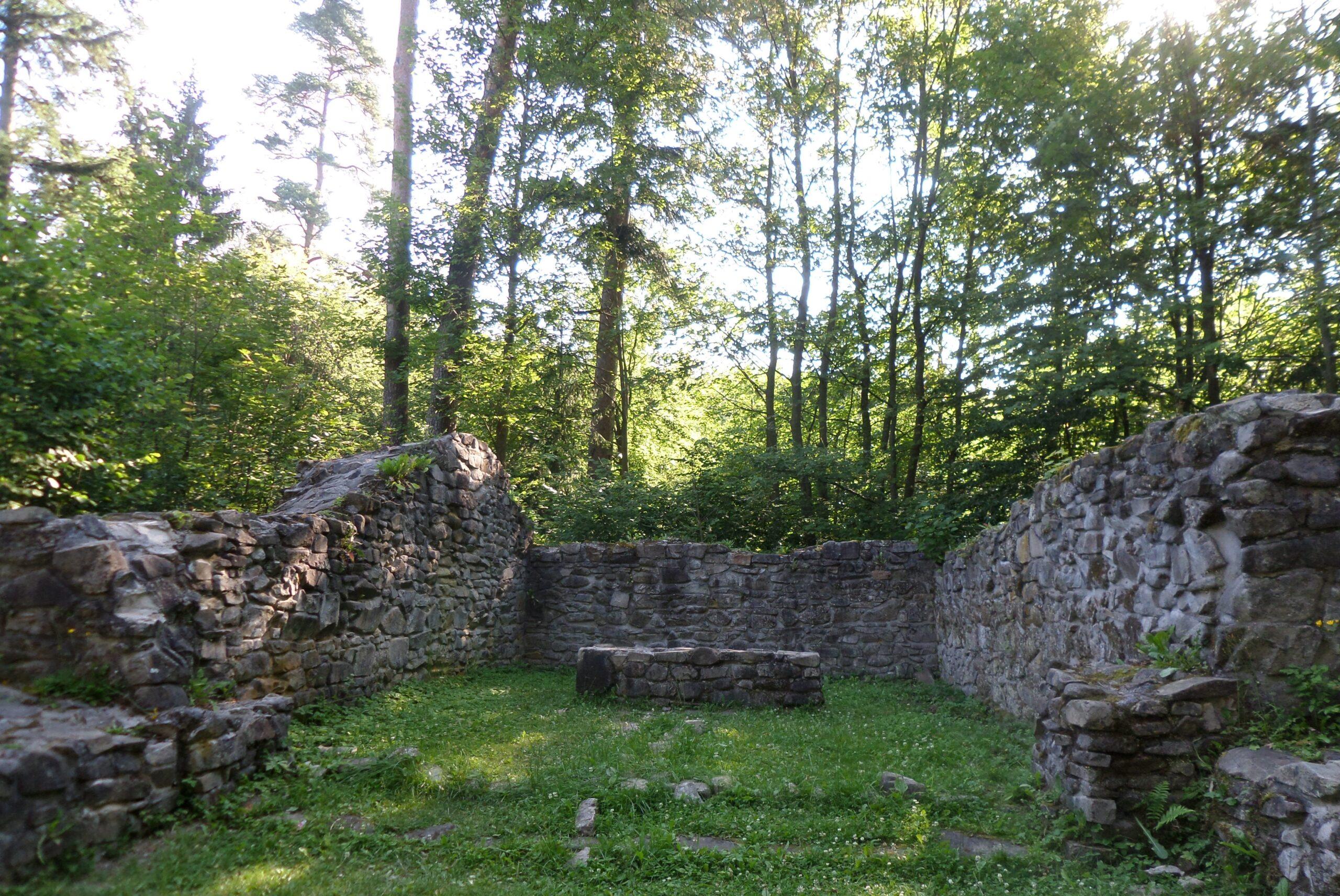 Zřícenina kostela sv. Linharta u obory sv. Linhart