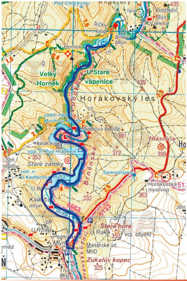 Mariánské údolí mapa