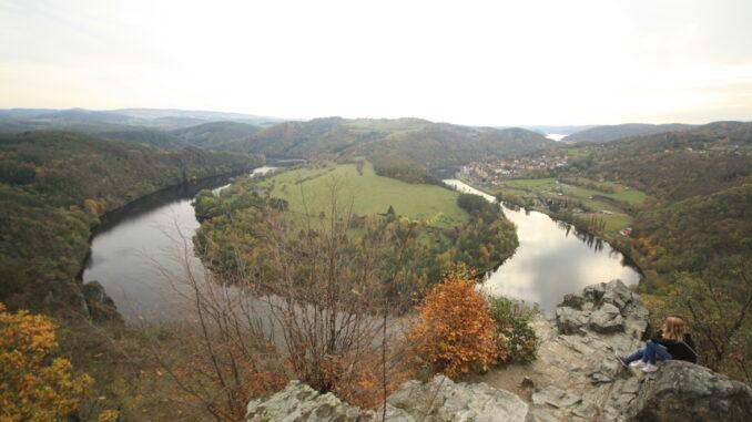 Výhled na řeku, podkova, meandr