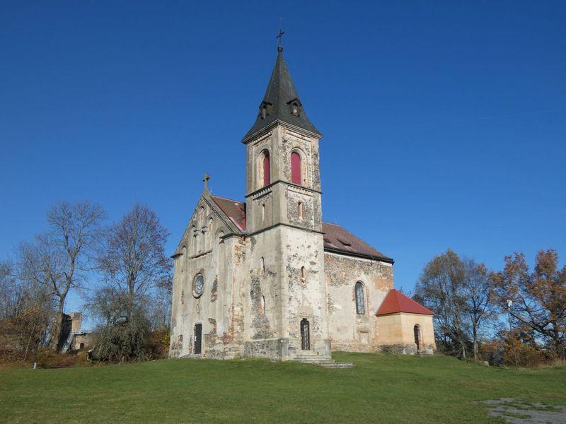 Švamberk a Kostel sv. Máří Magdalény na Krasíkově