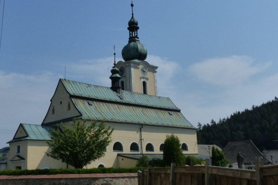 Velký okruh Bystřickem - Kostel Narození Panny Marie v Jimramově