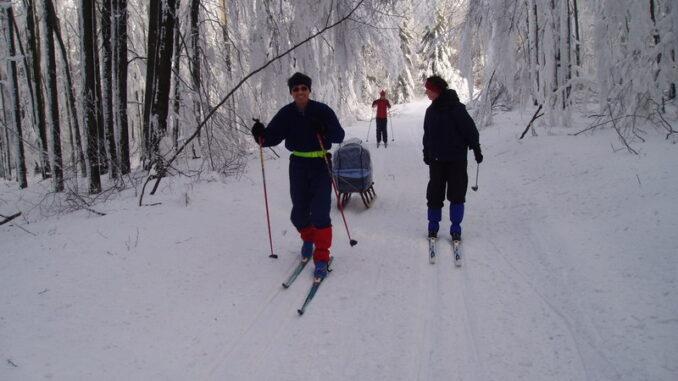 Běžkaři na trase