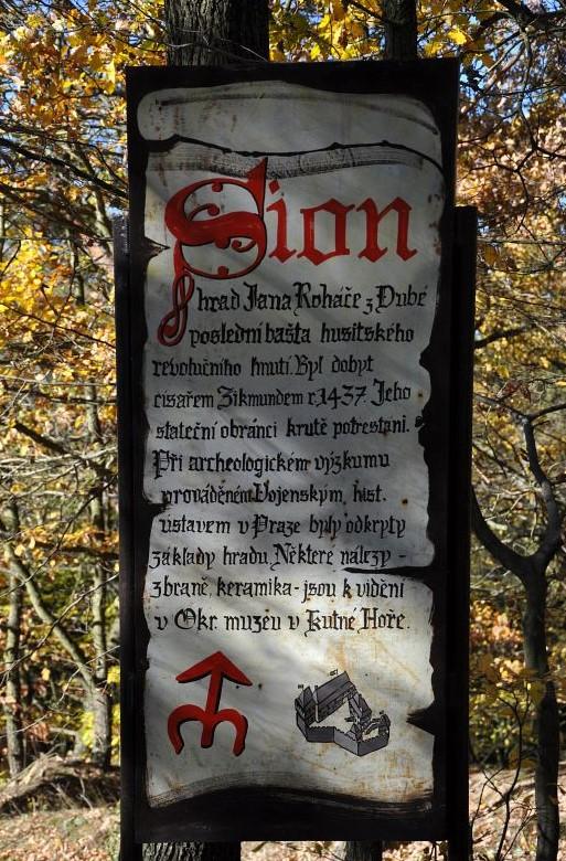 info panel - hrad Sion