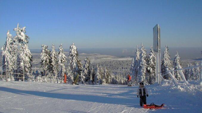 Výhled z Klínovce v zimě