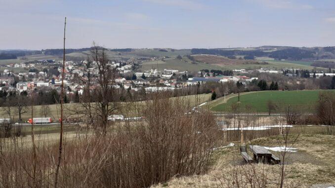 Výhled z kopce Kalvárie