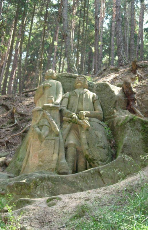 Malý a Velký Chlum- sochy