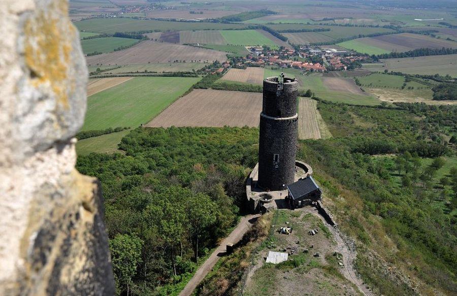 hrad Házmburk-výhled