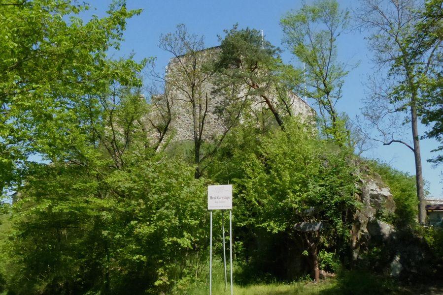 Zřícenina hradu Cornštejn nad Vranovskou přehradou. Foto: Antonín Skryja