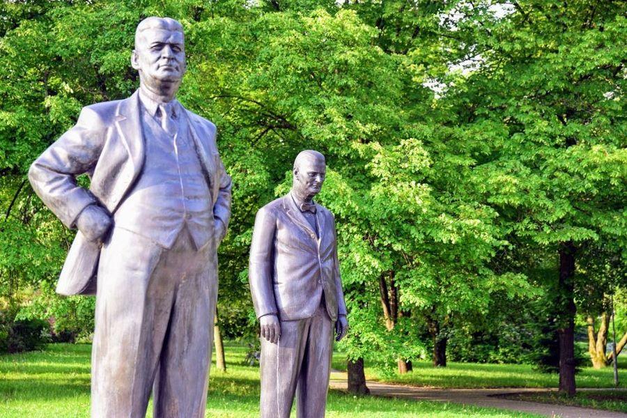 Sochy Jana Antonína Bati a Tomáše Bati ve Zlíně. Zdroj: archiv CCRVM
