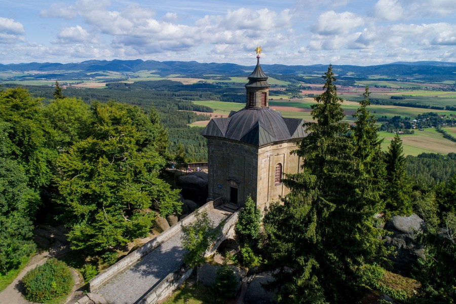 Kaple Panny Marie Sněžné (Hvězda). Zdroj: archiv Centrála cestovního ruchu Královéhradeckého kraje