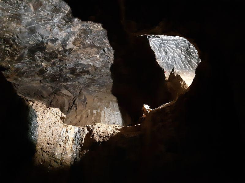 Prohlídková trasa historickým středověkým dolem Jeroným nedaleko obce Krásno v Karlovarském kraji. Foto: Anna Petruželková
