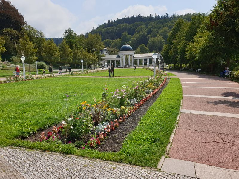 K symbolům Mariánských Lázní neodmyslitelně patří hlavní lázeňská kolonáda. Foto Anna Petruželková