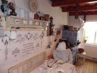 Stylově upravená selská kuchyně v muzeu obce Kobylí. Foto: Přemysl Pálka. Zdroj: Muzeum obce Kobylí